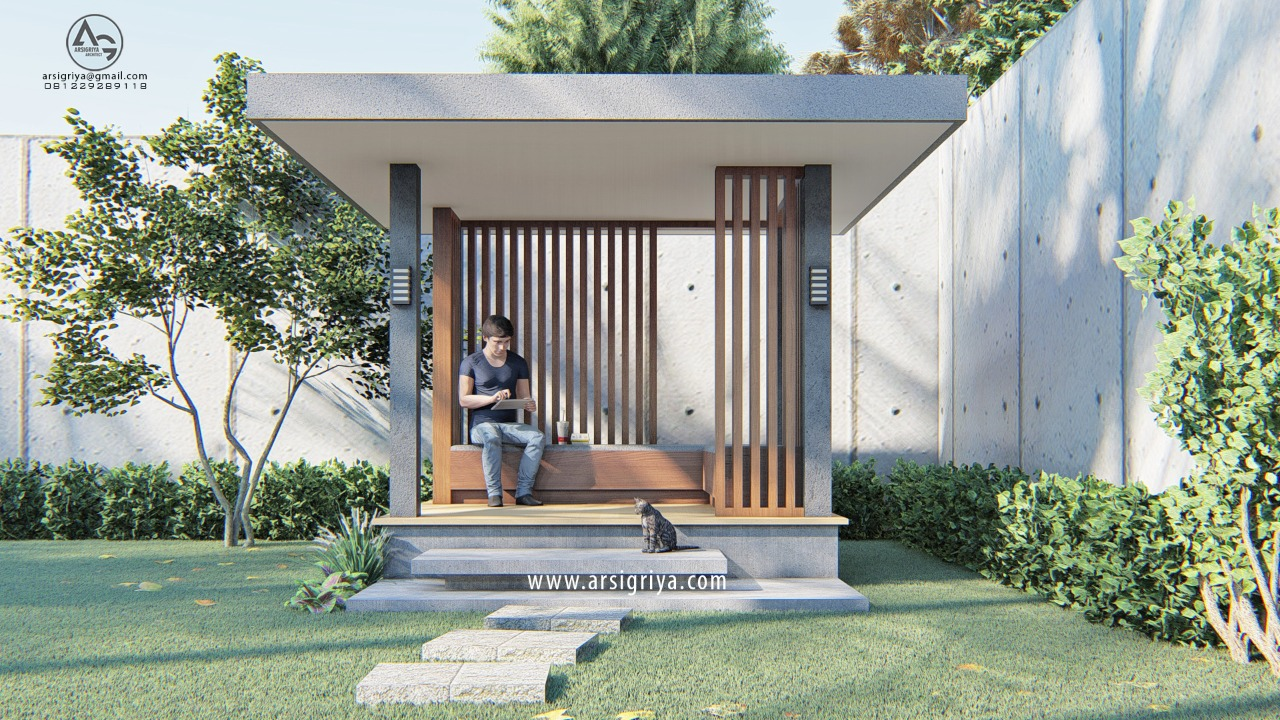 Desain Gazebo Bapak Iwan Bogor
