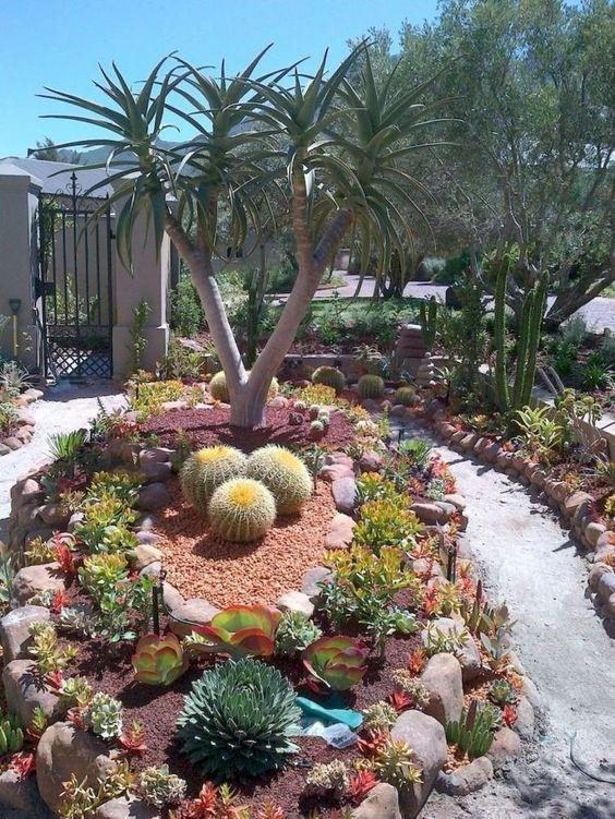 65+ MAGNIFICENCE FRONT YARD ROCK GARDEN LANDSCAPING DECOR IDEAS  #gardening #landscaping #landscapingideas